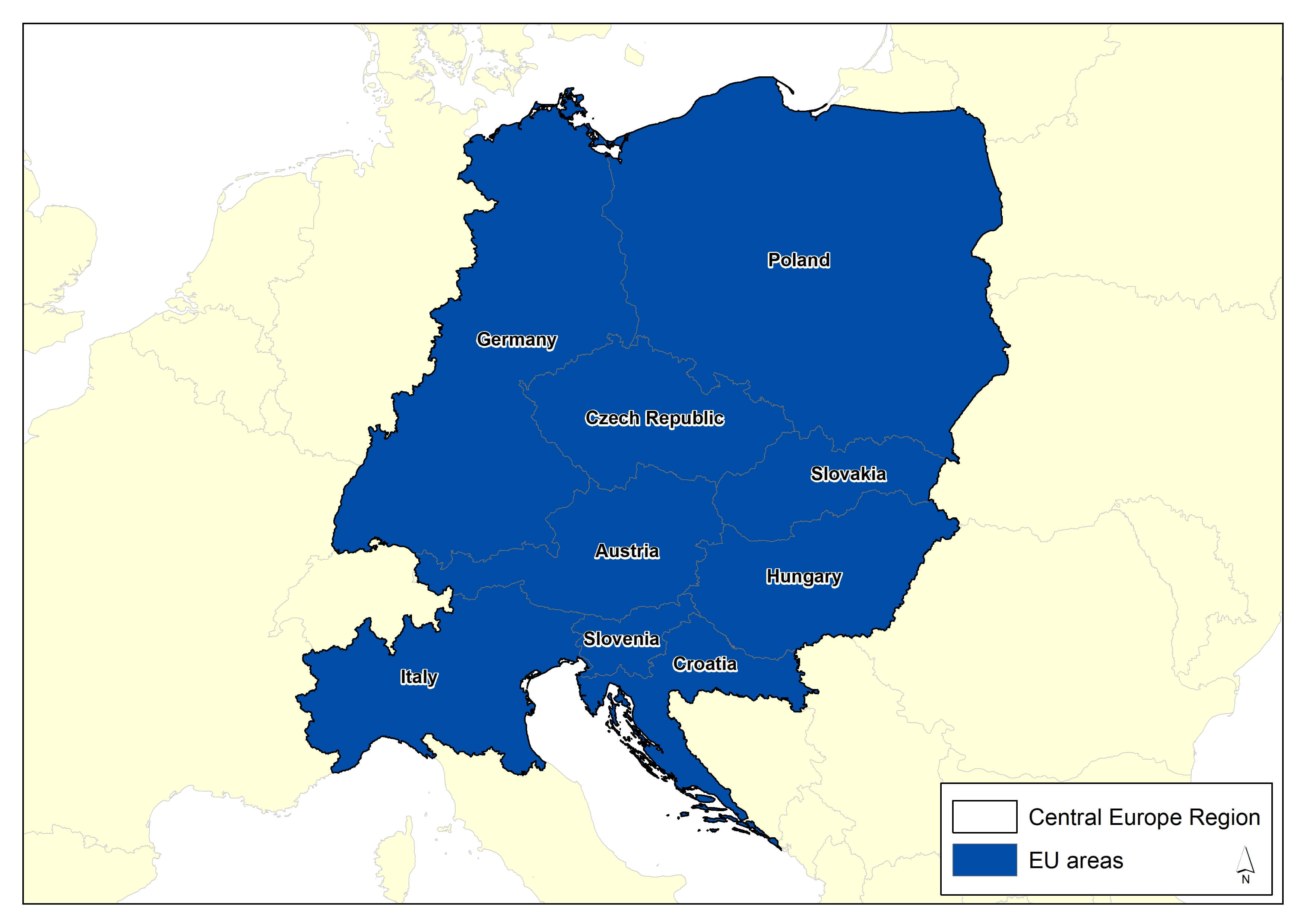 map of central europe 2014 Central Europe — Climate ADAPT