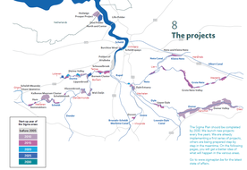 Locations of key Sigma Plan projects and related completion program
