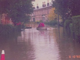 Rescue of residents during the 1990 flood