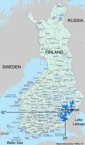 Lake Saimaa location