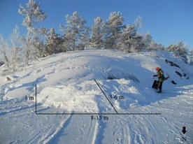 Man-made snowdrift (I)