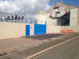 Flood defences at Uskmouth 132kv substation
