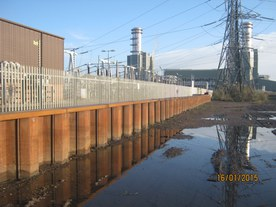 Flood defences at Uskmouth substation