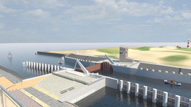 Storm surge barrier planned at Yser mouth, Nieuwpoort
