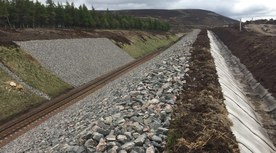 Embankment and drainage construction in Scotland