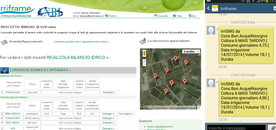 Screenshot of the IRRIFRAME WEB and APP application