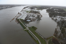 The Polders of Kruibeke during the tide storm of 3 January 2018