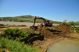 Reconnecting the former floodplain to the Danube at Mahmudia (Romania)