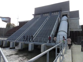 Overview of the total installation at Ham lock