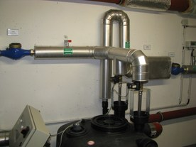 Drinking water intake system into the rainwater use system
