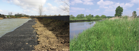Erosion protection: before and after the works
