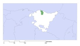 Location of Urdaibai biosphere reserve