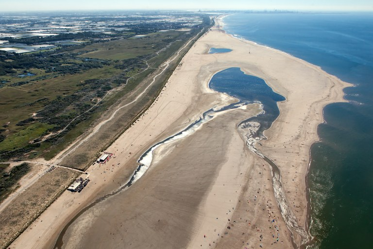 Aerial view of Sand Motor; August 2016