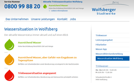 Online early warning system of the Water Works of the city of Wolfsberg