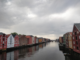 Traditional buildings in Trondheim