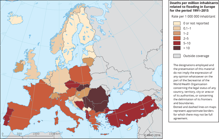 Deaths related to flooding in Europe